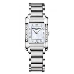 Baume & Mercier Damenuhr Hampton 10051 Diamanten Perlmutt Quartz