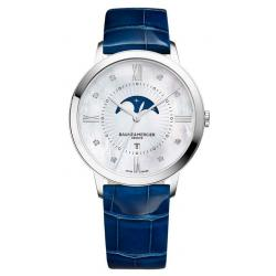 Baume & Mercier Damenuhr Classima 10226 Moonphase Diamanten Perlmutt