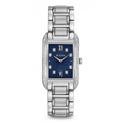 Bulova Damenuhr Curv Diamonds 96R211 Diamanten Quartz