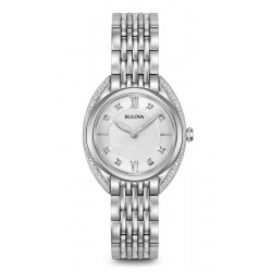 Bulova Damenuhr Curv Diamonds 96R212 Diamanten Quartz