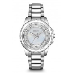 Bulova Damenuhr Diamonds 96S144 Diamanten Perlmutt Quartz