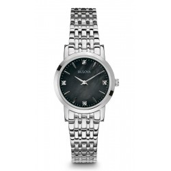 Bulova Damenuhr Diamonds 96S148 Diamanten Perlmutt Quartz