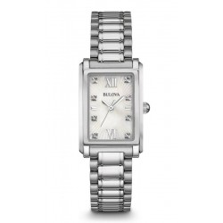 Bulova Damenuhr Diamonds 96S157 Diamanten Perlmutt Quartz