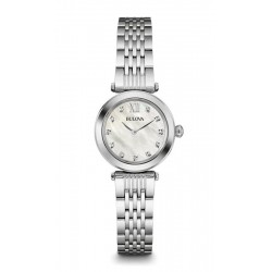 Bulova Damenuhr Diamonds 96S167 Diamanten Perlmutt Quartz