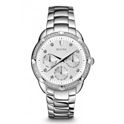 Bulova Damenuhr Diamonds 96S152 Diamanten Quartz