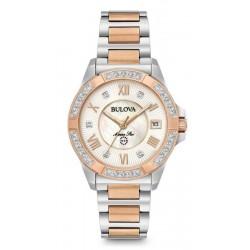Kaufen Sie Bulova Damenuhr Marine Star 98R234 Diamanten Perlmutt Quartz