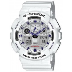 Casio G-Shock Herrenuhr GA-100A-7AER Multifunktions Ana-Digi