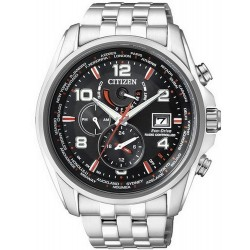 Citizen Herrenuhr Funkuhr Chrono Eco-Drive AT9030-55F