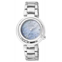 Kaufen Sie Citizen Damenuhr Elegant Eco-Drive EM0321-56D Diamanten Perlmutt
