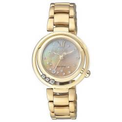 Kaufen Sie Citizen Damenuhr Elegant Eco-Drive EM0325-55P Diamanten Perlmutt