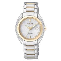 Citizen Damenuhr Elegant Eco-Drive EW2254-58A Diamanten