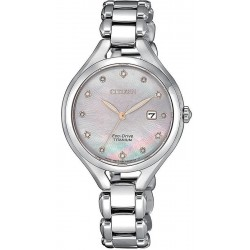 Citizen Damenuhr Lady Super Titanium EW2560-86Y Diamanten Perlmutt