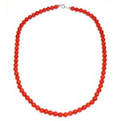 Rote Korallen und Silber Damenhalskette CR205