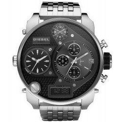 Diesel Herrenuhr Mr. Daddy DZ7221 Chronograph 4 Zeitzonen
