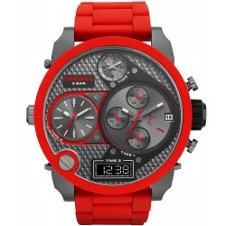 Diesel Herrenuhr Mr. Daddy DZ7279 Chronograph 4 Zeitzonen