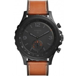 Fossil Herrenuhr FTW1114 Q Nate Smartwatch Analog Dual Time Multifunktion