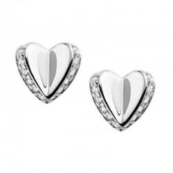 Fossil Damenohrringe Sterling Silver JFS00423040 Herz