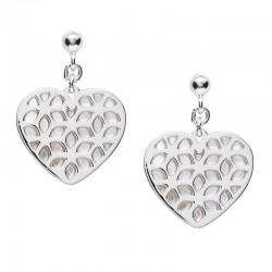 Kaufen Sie Fossil Damenohrringe Sterling Silver JFS00489040 Herz Perlmutt