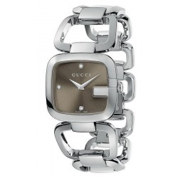 Kaufen Sie Gucci Damenuhr G-Gucci Medium YA125401 Diamanten Quartz