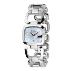 Kaufen Sie Gucci Damenuhr G-Gucci Small YA125502 Diamanten Perlmutt Quartz