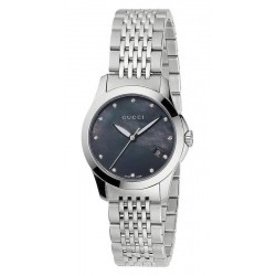 Kaufen Sie Gucci Damenuhr G-Timeless Small YA126505 Diamanten Perlmutt Quartz