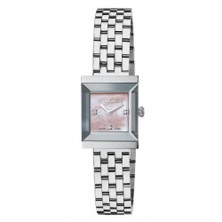 Kaufen Sie Gucci Damenuhr G-Frame Square Medium YA128401 Diamanten Perlmutt