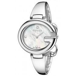 Gucci Damenuhr Guccissima Large YA134303 Diamanten Perlmutt Quartz