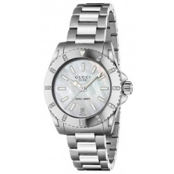 Kaufen Sie Gucci Damenuhr Dive Medium YA136405 Diamanten Perlmutt Quartz