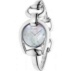 Gucci Damenuhr Horsebit Small YA139506 Diamanten Perlmutt Quartz