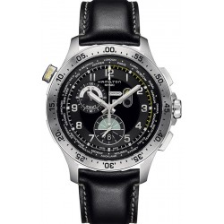 Hamilton Herrenuhr Khaki Aviation Worldtimer Chrono Quartz H76714735
