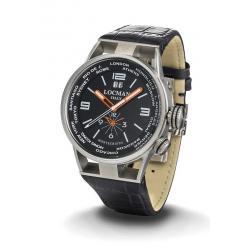 Locman Herrenuhr Montecristo World Dual Time Quartz 0508A01S-00BKWHPK