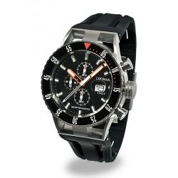 Locman Herrenuhr Montecristo Professional Diver Chronograph 051200KOBKNKSIK