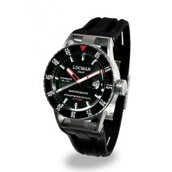 Locman Herrenuhr Montecristo Professional Diver Automatik 051300KRBKNKSIK