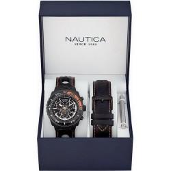 Nautica Herrenuhr NST 700 Box Set A17636G Chronograph