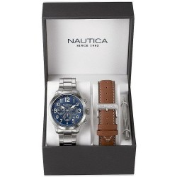 Nautica Herrenuhr NCC 01 Box Set NAI18509G Chronograph