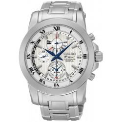 Seiko Herrenuhr Premier Chronograph Perpetual Calendar Alarm SPC159P1