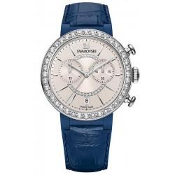 Kaufen Sie Swarovski Damenuhr Citra Sphere Chrono Blue Gray 5210208