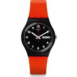 Swatch Unisexuhr Gent Red Grin GB754