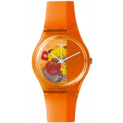 Swatch Unisexuhr Gent Bloody Orange GO116