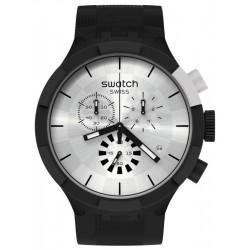 Swatch Uhr Big Bold Chrono Chequered Silver SB02B404