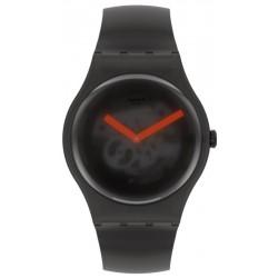 Swatch Unisexuhr New Gent Black Blur SUOB183