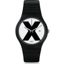 Swatch Unisexuhr New Gent XX-Rated Black SUOB402