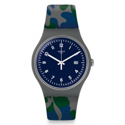 Swatch Unisexuhr New Gent Camougreen SUOM400