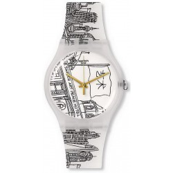 Swatch Unisexuhr New Gent Art Peace Hotel SUOZ197