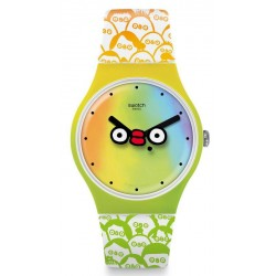 Kaufen Sie Swatch Club Unisexuhr New Gent What's Yo Face? SUOZ303