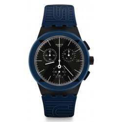Swatch Unisexuhr Chrono Plastic X-District Blue SUSB418 kaufen