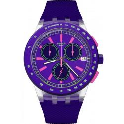 Kaufen Sie Swatch Unisexuhr Chrono Plastic Purp-Lol SUSK400 Chronograph
