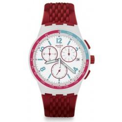 Kaufen Sie Swatch Unisexuhr Chrono Plastic Red Track SUSM403 Chronograph