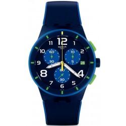Kaufen Sie Swatch Herrenuhr Chrono Plastic Bleu Sur Bleu SUSN409 Chronograph