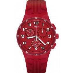 Kaufen Sie Swatch Unisexuhr Chrono Plastic Red Step SUSR404 Chronograph
